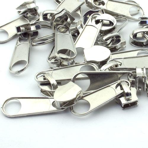 10 Stuck Reissverschlussschieber Silber 8mm Online Kaufen