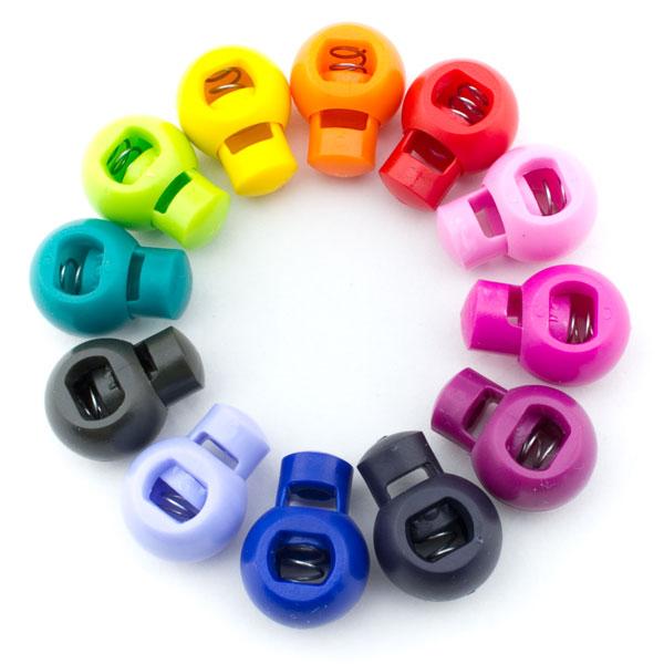 Farben 24.Kordelstopper Set Mit 12 Farben 24 Stück