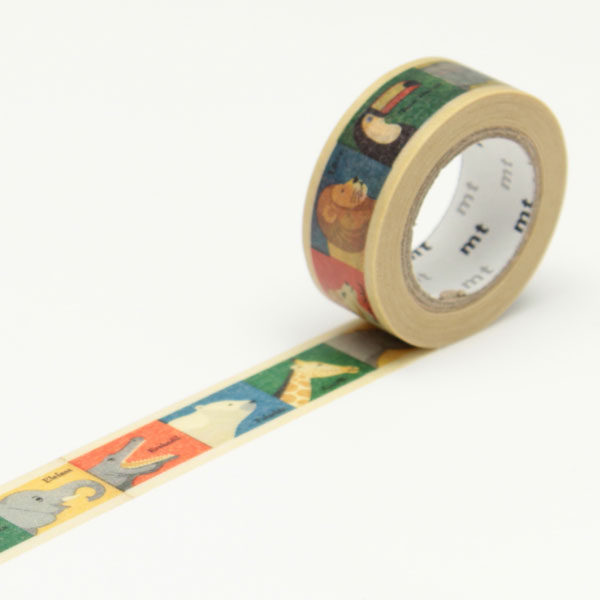 7m washi tape 15mm kids animal online kaufen. Black Bedroom Furniture Sets. Home Design Ideas