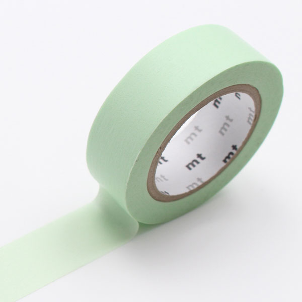 10m washi tape 15mm pastel green online kaufen. Black Bedroom Furniture Sets. Home Design Ideas