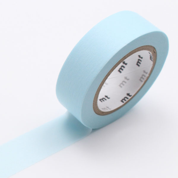 10m washi tape 15mm pastel powder blue online kaufen. Black Bedroom Furniture Sets. Home Design Ideas