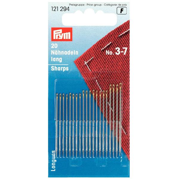 121306 20 Qualitäts Nähnadeln halblang Stärke 5-9 Prym Nadeln