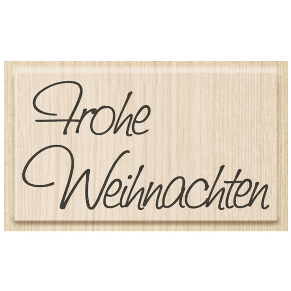 stempel frohe weihnachten 7 x 3 8 cm online kaufen. Black Bedroom Furniture Sets. Home Design Ideas