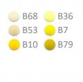 20 BabySnap Druckknöpfe T5 gelb B10