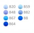 20 BabySnap Druckknöpfe T5 hellblau B20