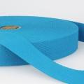Gurtband Baumwolle azurblau 30mm