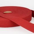Gurtband Baumwolle dunkelrot 30mm