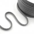 25m Baumwollkordel 5,3mm grau