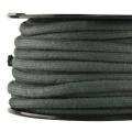 Baumwollkordel 7mm Meterware dunkelgrau