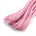 3m Baumwollkordel gewachst rosa 2mm