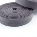 Schrägband graubraun aus Baumwolle 20mm