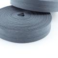 Schrägband dunkelgrau aus Baumwolle 20mm