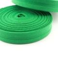 Schrägband grasgrün aus Baumwolle 20mm
