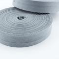 Schrägband grau aus Baumwolle 20mm