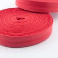 Schrägband rot aus Baumwolle 20mm