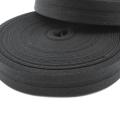 Schrägband schwarz aus Baumwolle 20mm