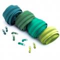 Reißverschluss-Set grün 5mm