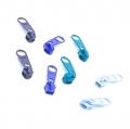 8 Schieber für Reißverschluss-Set blau 5mm