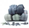 Reißverschluss-Set 3mm Grautöne