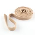 Flachkordel Hoodiekordel beige 15mm Baumwolle