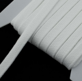 Flachkordel weiß 15mm Baumwolle