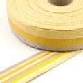 Taschengurt 40mm doubleface Meterware gelb