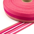 Taschengurt 40mm doubleface Meterware rosa pink