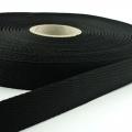 Polypropylen-Einfassband Köperband schwarz 25mm