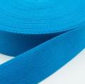 Gurtband Baumwolle azurblau 40mm