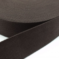 Gurtband Baumwolle dunkelbraun 25mm