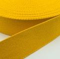 Gurtband Baumwolle gelb 25mm