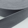 Gurtband Baumwolle grau 40mm