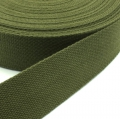 Gurtband Baumwolle oliv 40mm