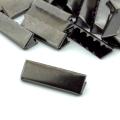 10 Stück Gurtband Endstück 40mm schwarz brüniert