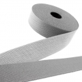 Gürtelband grau 40mm gemustert