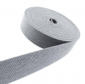 Gürtelband Jeansoptik 40mm grau