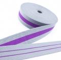 Taschengurt Gürtelband grau lila