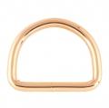 5 Stück D-Ring rosegold 16 x 13mm geschweißt