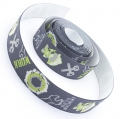 4m Gummiband 25mm Work grau
