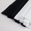 Klettband schwarz weiß 20mm geschnitten auf 20cm 25 Stück