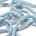 50 Meter Baumwollkordel hellblau 5 mm