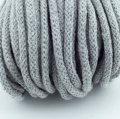 Baumwollkordel hellgrau 5mm mit Kern