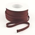 Flachkordel 10mm Polyester braun