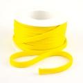 Flachkordel 10mm Polyester gelb