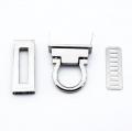 Taschenverschluss silber 17mm x 45mm