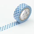 10m Washi Tape 15mm Dot Blue