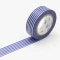 10m Washi Tape 15mm Border Deep Blue
