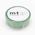 10m Washi Tape 15mm Border Evergreen