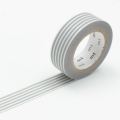 10m Washi Tape 15mm Border Grey