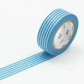 10m Washi Tape 15mm Border Sky Blue